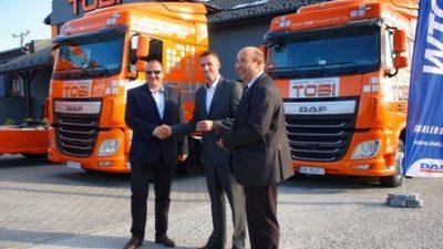 Firma TOBI odbiera DAFy XF Euro 6