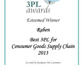 Grupa Raben uhonorowana dwiema nagrodami European 3PL