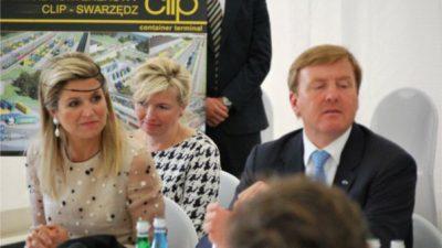Holenderska para królewska odwiedza terminal intermodalny Clip w Swarzędzu