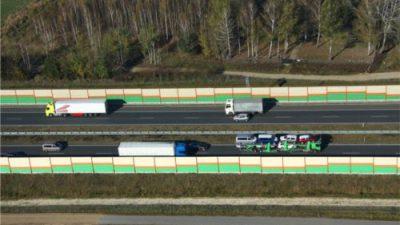 Zakaz wyprzedzania dla samochodów ciężarowych na A2