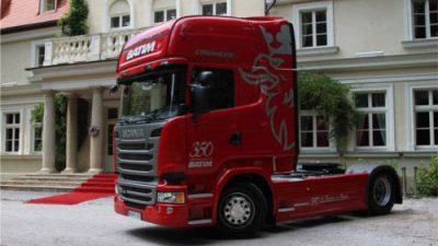 Firma Batim odebrała 350 ciągnik marki Scania