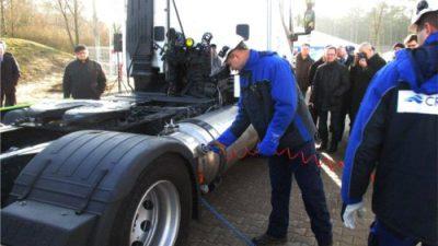 Pierwsza w Polsce stacja LNG/CNG do tankowania pojazdów ciężarowych