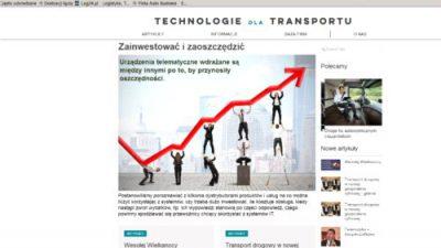 Nowa platforma dla firm transportowych
