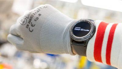 Smartwatch na hali produkcyjnej
