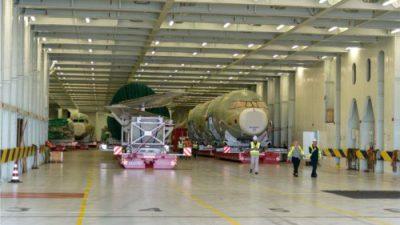 Transport komponentów do produkcji Airbusa