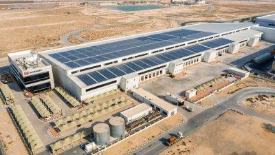 Centrum logistyczne zasilane energią słoneczną
