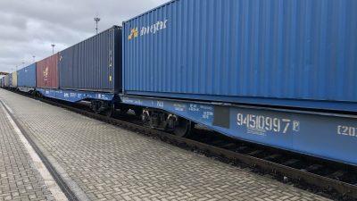 Pierwszy pociąg bez przeładunku jechał szerokim torem Xi'an – Sławków LHS