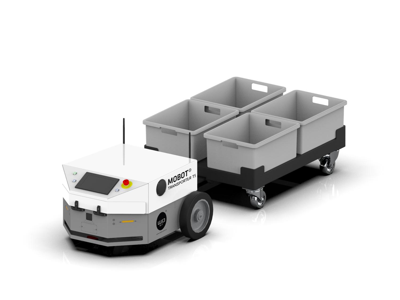 Nowy robot mobilny MOBOT® TRANSPORTER T5 – tam gdzie potrzebujesz ciągnąć ładunki