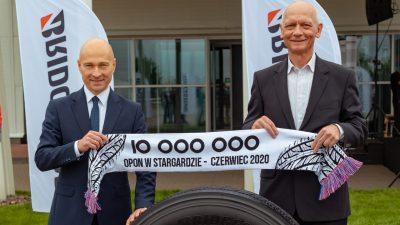 10 milionów opon z Bridgestone Stargard