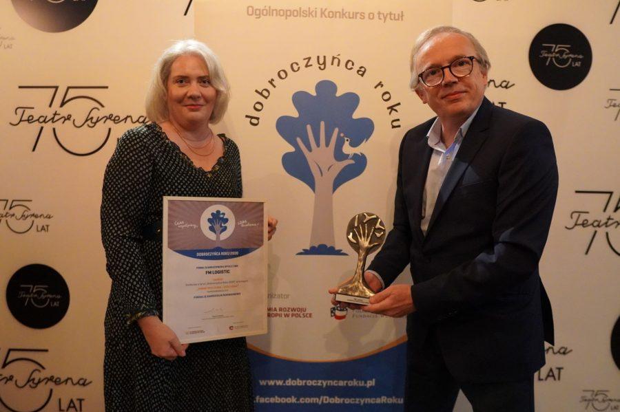 """FM Logistic z tytułem Dobroczyńca Roku w kategorii """"pomoc społeczna"""""""