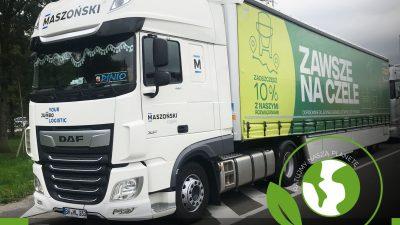 Maszoński Logistic testuje ekologiczną naczepę