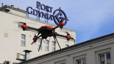Dron zwiększy bezpieczeństwo w Porcie Gdynia