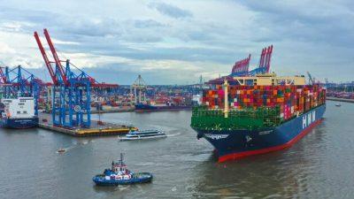 Port Hamburg – zauważalny zwrot w przeładunkach
