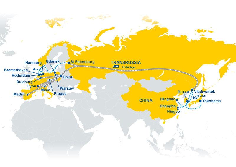 TRANSRUSSIA – nowe połącznie kolejowe GEFCO z Azji do Europy w 30 dni