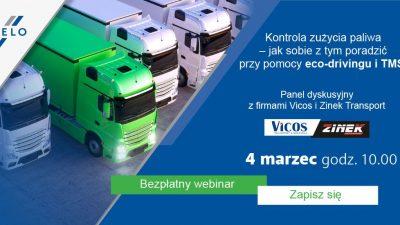 Kontrola zużycia paliwa przez ekojazdę i TMS. Debata z Vicos i Zinek transport