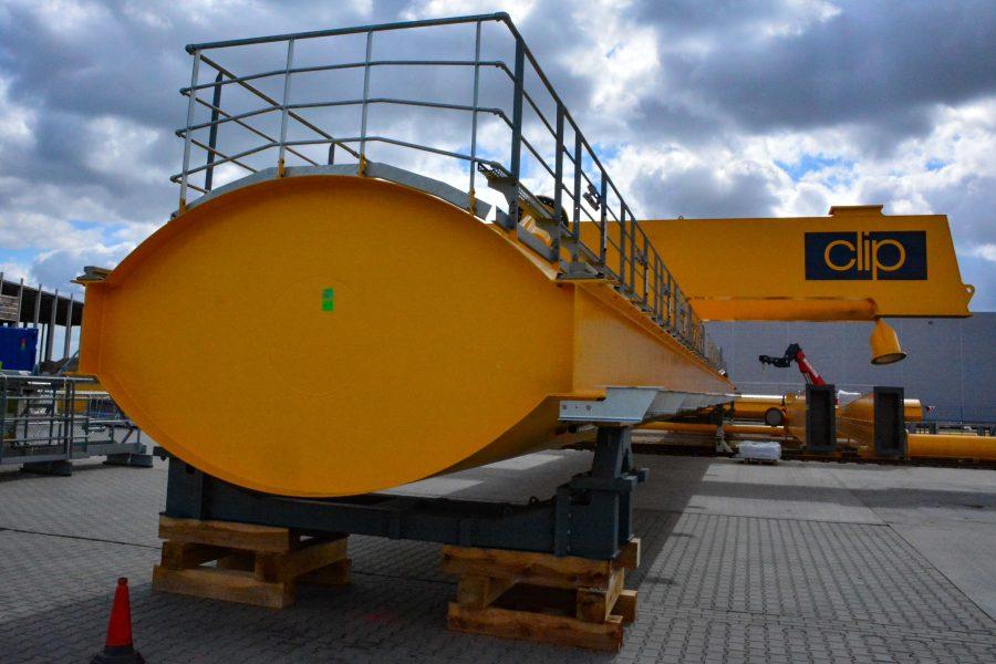 Rozpoczął się montaż trzech suwnic RMG na terminalu CLIP w Swarzędzu