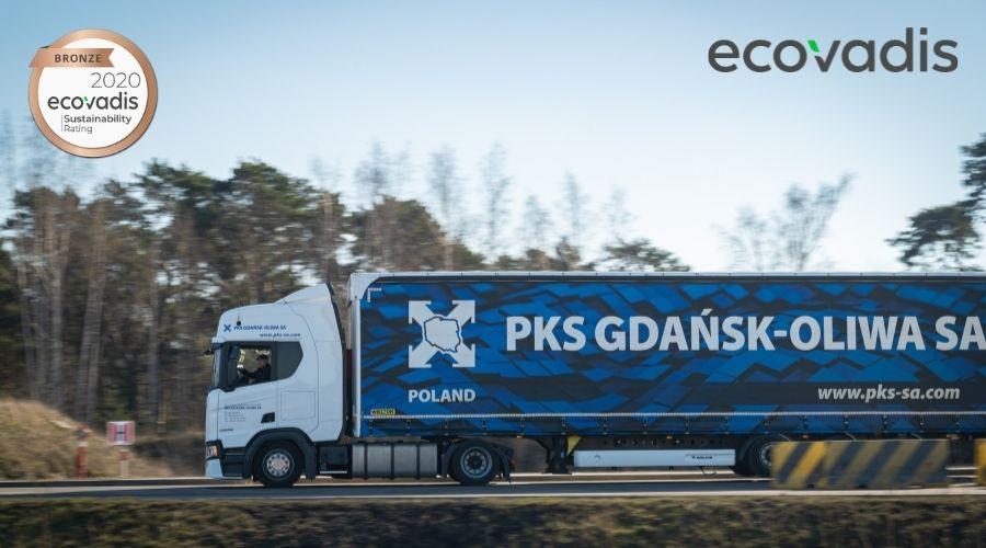 Medal i certyfikat EcoVadis dla PKS Gdańsk-Oliwa SA