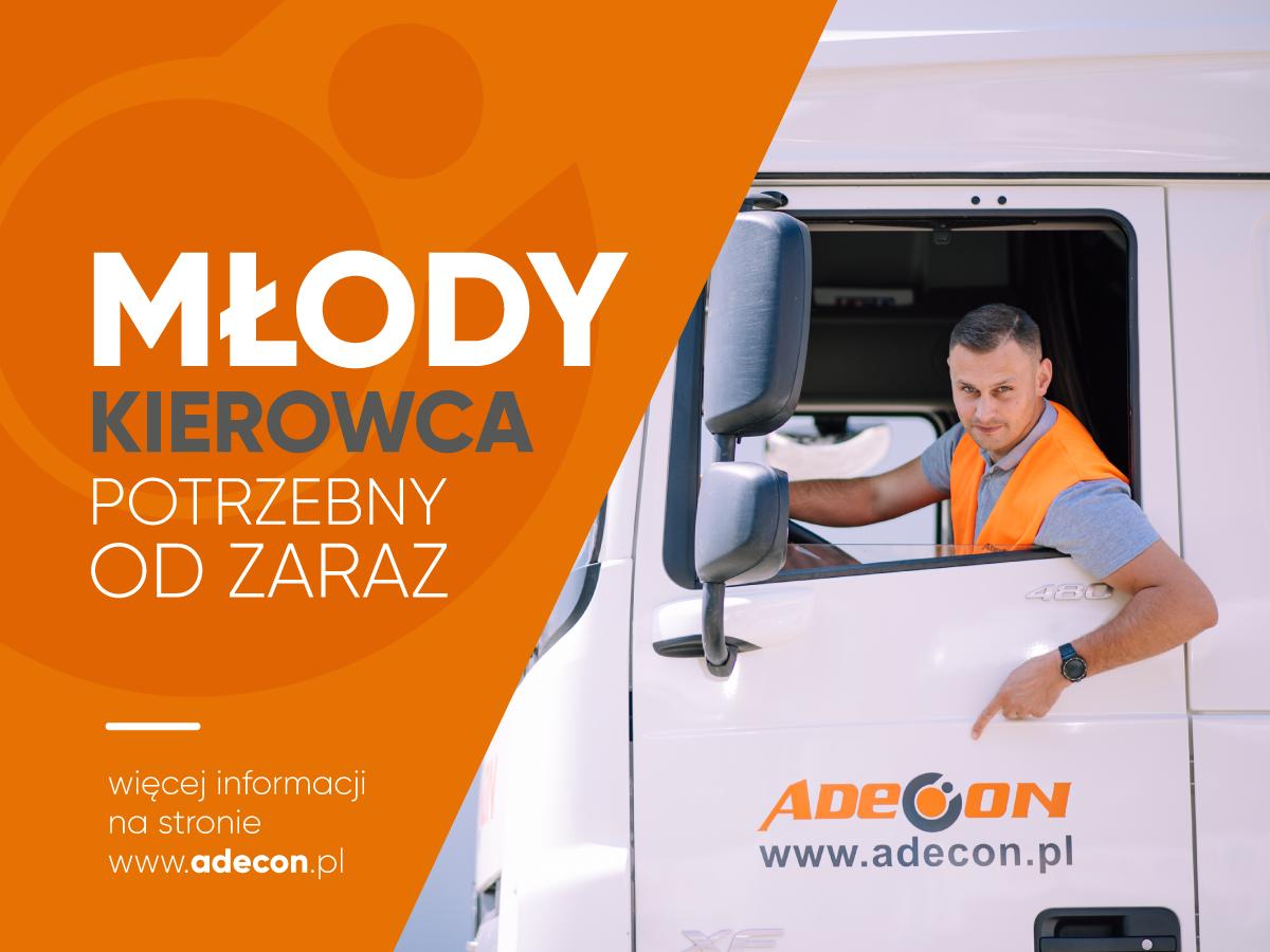 """ADECON szuka kierowców do programu """"Młody Kierowca"""""""