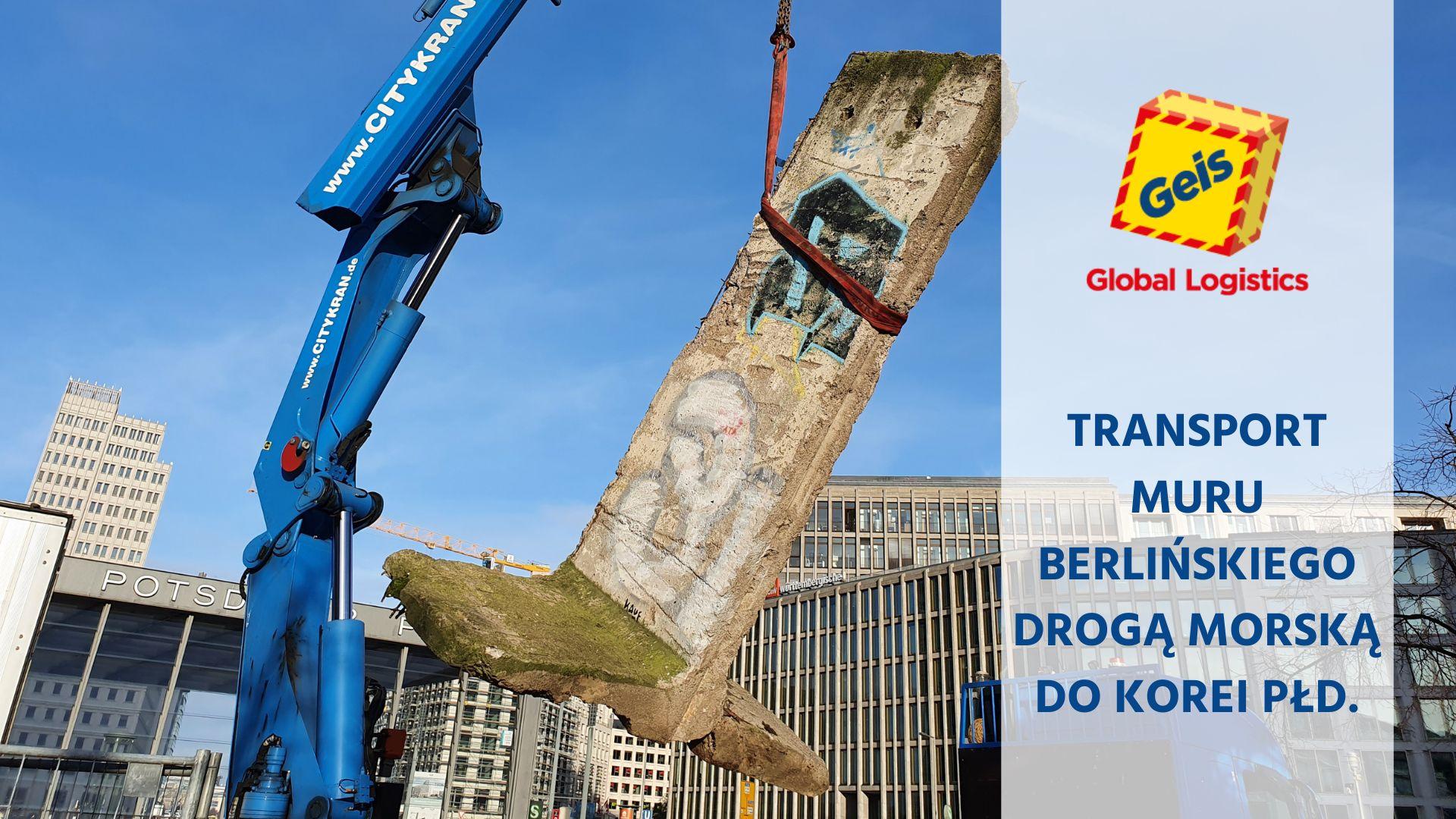 Transport Muru Berlińskiego drogą morską do Korei Południowej